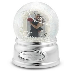 Personalized Wedding Photo Snow Globe