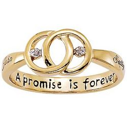 Personalized Couple's Promise Diamond Name Ring