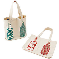 Europe Region Names Double Wine Tote