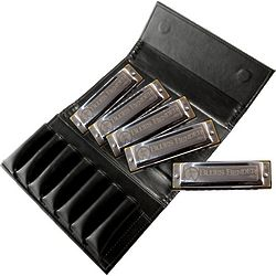 Blues Bender Harmonicas and Leather Case