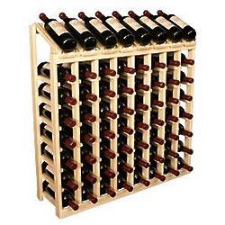 Wooden 64 Bottle Display Top Wine Rack