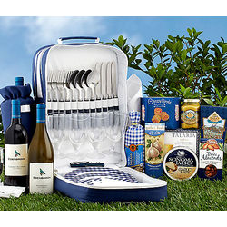 Picnic Backpack with Cabernet and Chardonnay