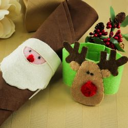 Holiday Fabric Napkin Rings