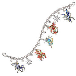 Spirited Fairies Swarovski Crystal Charm Bracelet