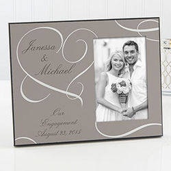 Our Engagement Personalized Photo Frame