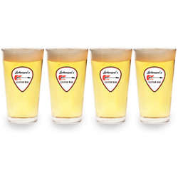 Personalized Guitar Bar Pint Glasses