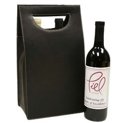 Leather Double Wine Carrier