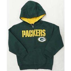 Toddler's Green Bay Packers Full-Zip Sportsman Hoodie