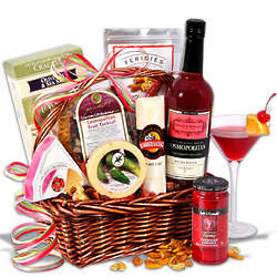 Cosmopolitan Cocktail Christmas Basket