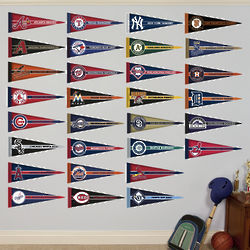 MLB Pennant Collection Wall Graphic