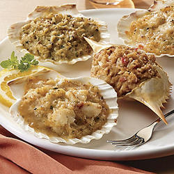 Stuffed Shells Scallops & Cheese