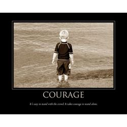 Courage Personalized Art Print