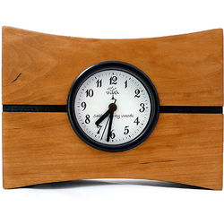 Turning Time Handcrafted Cherry Wood Desk Clock