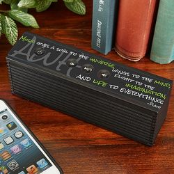 Music is Life Personalized Bluetooth Speaker
