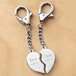 Split Heart Key Chain