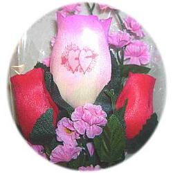 Valentine's Day Personalized Wooden Rose