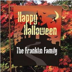 Personalized Happy Halloween Garden Flag