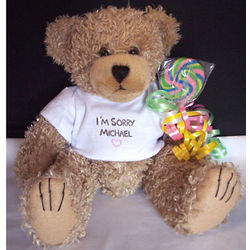 Personalized I'm Sorry Teddy Bear