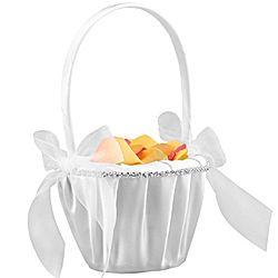 Sparkling Hearts Flower Girl Basket