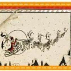 Artists Series Santa's Sleigh White Chocolate Bark Gift Tin
