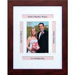 "Personalized 11"" x 14"" Wedding Photo Frame"