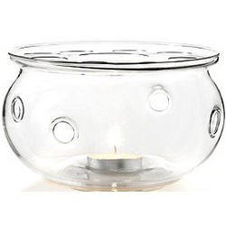Aurora Glass Teapot Warmer with Tea Light