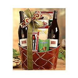 Bricklane Wine Works Wine and Snack Basket