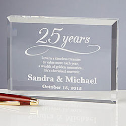 Happy Anniversary Personalized Plaque