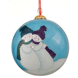 Engagement Snowmen Christmas Ornament