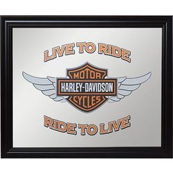 Harley-Davidson Winged Bar and Shield Mirror