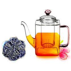 Whole Leaf Green Tea and Teapot