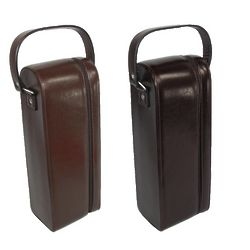 Leather Single Wine Case with Corkscrew and Bottle Opener