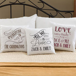 Romantic Love Quotes Personalized Throw Pillow