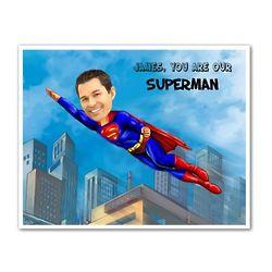 Superman II Personalized Caricature Art Print