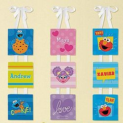 Personalized Sesame Street Name Canvas