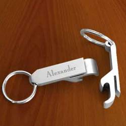 Personalized Stainless Steel Bottle Opener Key Chain