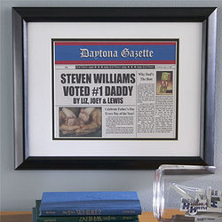 Personalized Framed Newspaper Print