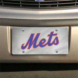 New York Mets Silver Mirrored License Plate