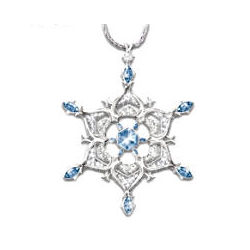 Thomas Kinkade Sterling Sparkling Snowflake Pendant Necklace