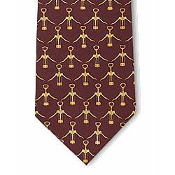 Corkscrews Silk Tie