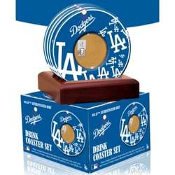 Los Angeles Dodgers Coasters with Game Used Dirt