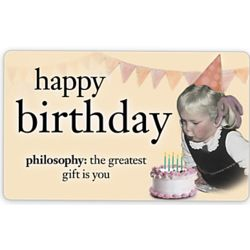 Happy Birthday Philosophy E Gift Card