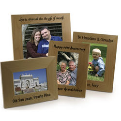 "Personalized 3 1/2"" x 5"" Alderwood Picture Frame"