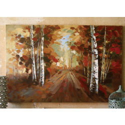 Pathway Through The Birches Painting