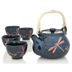 Midnight Dragonfly Tea Set