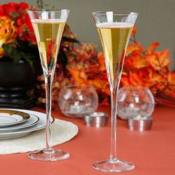 Long Stemmed crystal Wedding Flutes