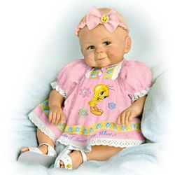Lifelike Baby Girl Doll With Tweety Bird Outfit
