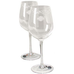Harley-Davidson Wine Glass Set