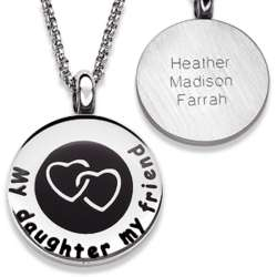Personalized A Daughter Is a Friend for Life Necklace