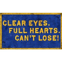 Friday Night Lights Clear Eyes Metal Sign